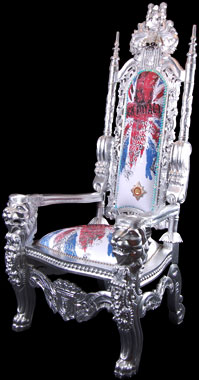 Bling King Throne by Ginny Avison, embellished with Swarovski Crystals